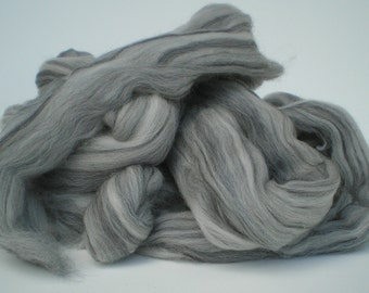 "Ashland Bay Solid Colored Merino for Spinning or Felting ""Grey""  4 oz."