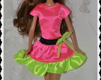 Barbie Vintage Day glo Pink Dress