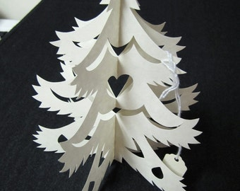 Christmas Decorations  - Scherenschnitte - Hand Paper Cutting Art signed and dated By Janet Lynch