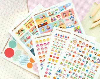 Korea My Melody Deco Transparent Sticker - 6 Sheets