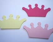 18 x Crown Die Cuts - Pink and yellow