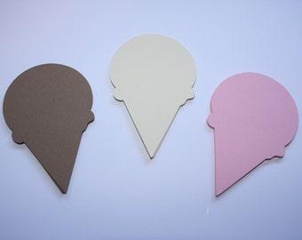 18 x Ice Cream Die Cuts - Neopolitan Icecream