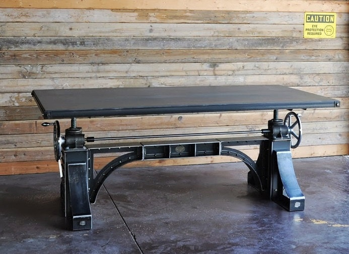 Industrial Crank Table By Vintageindustrial On Etsy