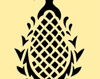 STENCIL Pineapple Motif 10x6.7