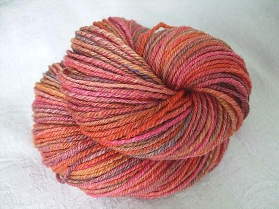 Sunday Afternoon - Handspun bfl wool - 129gr 164m 3ply self striping