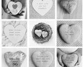 Love Quotes, Love Art, Heart Shaped Stone Rock, Anniversary Present, Valentine's Day Gift, Romantic Gift, Art Print, Wedding Gift, BW Photo