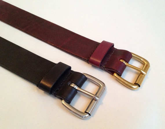Leather Belt w/ Roller Buckle