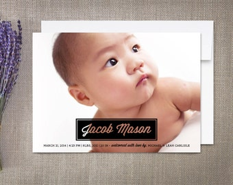 Birth Announcement Boy, Name Plate
