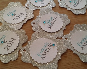 Sparkling Graduation Favor Tags