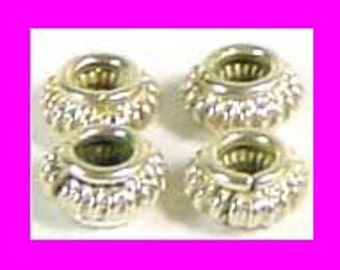 16 small bright solid 925 sterling silver rondelle bali Spacers beads 5mm S30