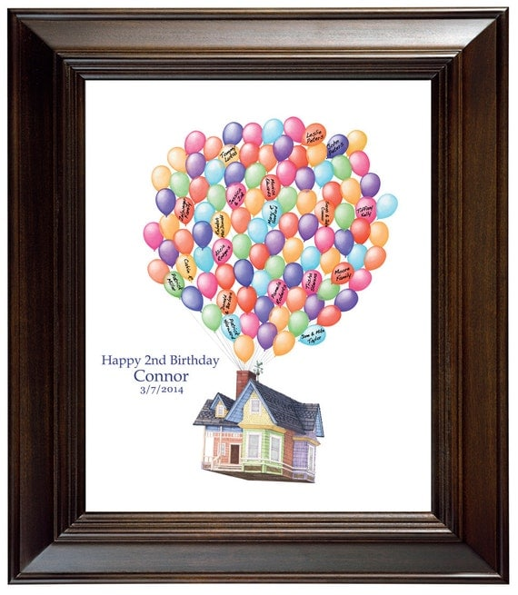 Birthday Sign Ups: Birthday Gift House Up Guest Book Ideas Birthday Guest Sign In