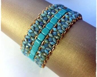 Embiez bracelet bead pattern, tutorial. How to make Embiez bracelet.