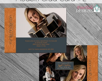 INSTANT DOWNLOAD - Modern Grad Card 2- custom photo templates for photographers on WHCC and ProDigitalPhotos Specs