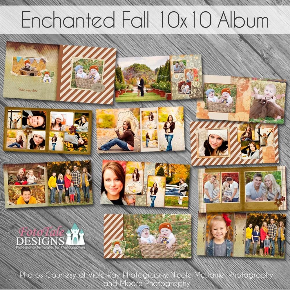 Printed Album: Press Printed Photo Album Enchanted Fall 10x10 Album 20