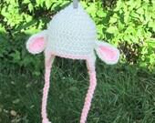 CROCHET PATTERN Baby Lamb Earflap Hat
