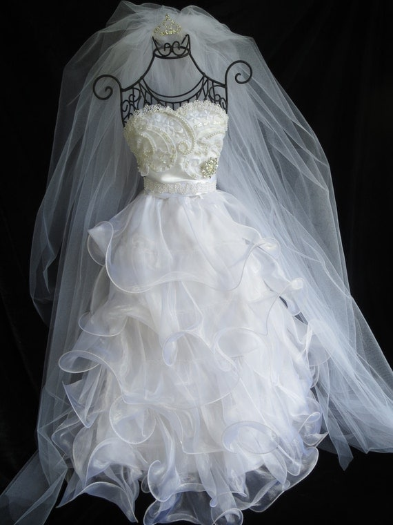 Bridal shower centerpiece wedding dress reception
