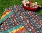 Retro 50's Pattern Beach Picnic Blanket