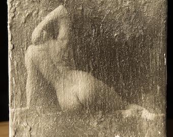 Liquid Emulsion Figure Study Printed on Canvas