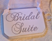 Bridal Suite GLITTER Wedding Sign Silver Wedding Silver Wedding Decor Metallic