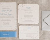 Modern Confetti Wedding Invitation Digital Download,New Year's Eve Wedding Invitations Printable,Polka dot Wedding DIY Template,