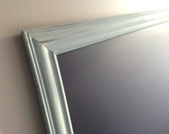 HUGE KITCHEN CHALKBOARD for Sale Blue Framed Chalk Board Magnetic Bulletin Board Rustic Modern Distressed Decor Wedding Sign - MoRE CoLORS