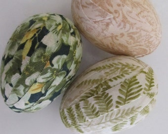 Fabric Wrapped Eggs / Spring Home Decor / Soft and Natural