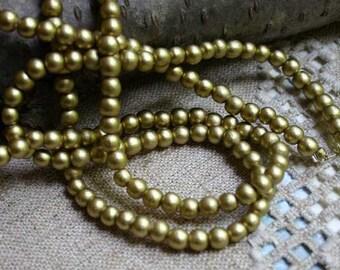 100pcs 8mm Metallic Gold Wood Natural Beads Round Macrame Bead