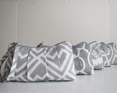 Set of 5, Bridesmaid Gift, Wristlet Clutch, Zipper Pouch, Bridesmaid Gift Idea, Bridal party gift