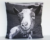 animal pillow 16x 16 GOAT CUSHION COVER , pillow, decorative pillow, animal cushion, throw pillow,