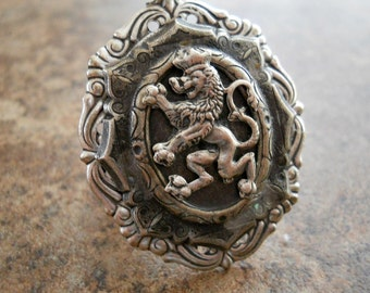 Game of Thrones Ring, Medieval Lion, Lion Ring, Game of Thrones, Heraldic, Heraldic Ring