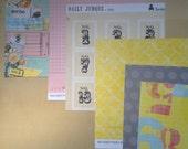 Paper Pack -Daily Junque-Paislee-Restoration-Scrapbook Paper-8-6 x 6