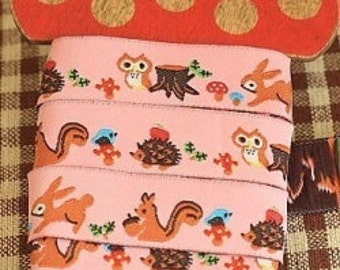 Ribbon-Trim-Squirrels-Bunnies-Woodland There-Sewing Trim-Ribbon Tape-Sewing Ribbon