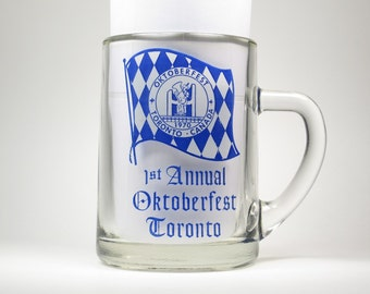 1st Annual Oktoberfest 1970 Toronto - Large Beer Stein Mug - Collectible Souvenier