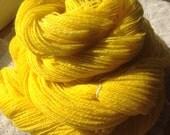 580 yards Hand Spun Norwegian Wool Yarn sunshine yellow