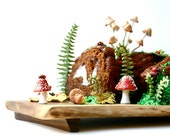 DIY Woodland Cake Decorating Set (Double set) by Andie's Specialty Sweets - Wedding Cake Topper, Buche De Noel, Yule Log
