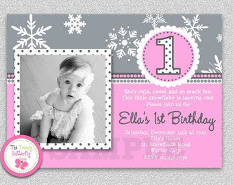 Winter Birthday Invitation Winter Birthday Invitation Boys or Girls Printable