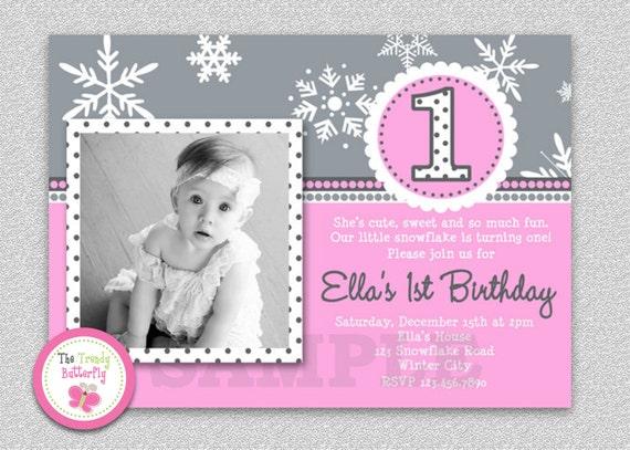 Winter Birthday Invitation Winter Birthday Invitation Boys or Girls Printable