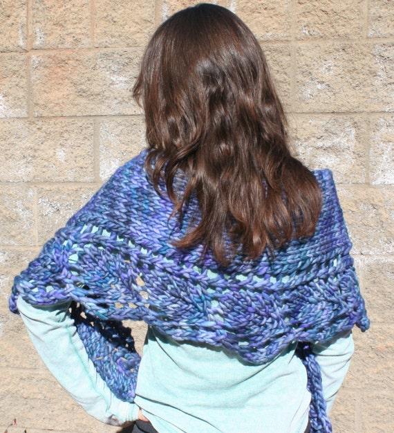 Malabrigo Knitting Patterns : Azuay Shawl PDF pattern Malabrigo Rasta