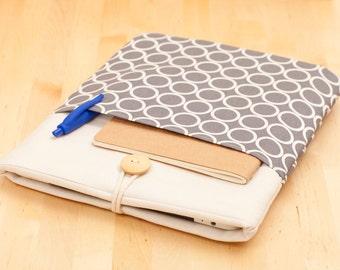 13 inch Macbook pro sleeve case / 13 inch Macbook air case / Macbook pro retina 13 case /  Laptop case / computer case - circles -