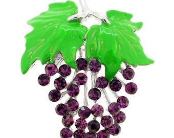 Amethyst Bunch Of Grapes Pin Brooch 1002361