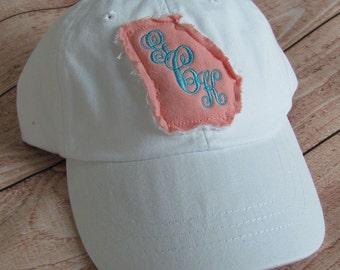 Georgia Monogrammed Baseball Cap Personalized Hat Bridesmaid Birthday Gift