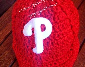 Newborn baby Philadelphia Philly's baseball cap
