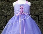 Custom Boutique Clothing  Rapunzel Inspired Sassy Girl Dress