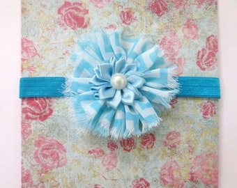Baby headband, baby flower headband, newborn headband, Turquoise Baby Headband - Turquoise Flower Headband