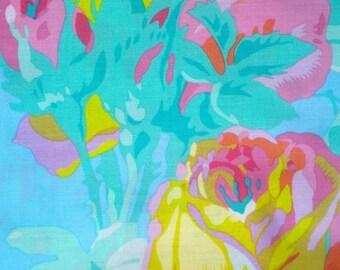 English Rose sky blue Phillip Jacobs Rowan Fabrics retired PJ32 FQ or more