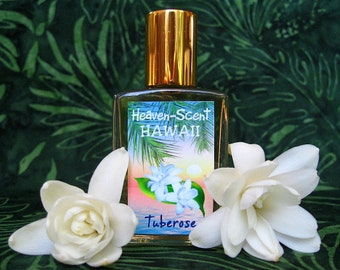 TUBEROSE PERFUME. Custom-Blended Roll-on Perfume. Made in Hawaii. 0.5 fl oz (15 ml).