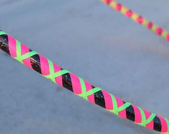 Collapsible Hoop style: Gothic Watermelon // travel hoop // day hoop // exercise hoop // pink and green hoop // infinity style hoop