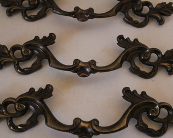 "Old World Brass Drawer Pulls 10"" - Set of Eight"