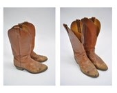 vintage cowboy boots leather boots nocona cowboy roper boots work size 8 EE