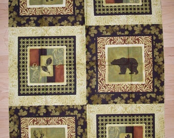 A Gorgeous Animals in The Wild Northern Exposure Fabric Panel Free US Shipping
